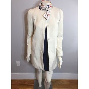 Elle cream Snap Front Collarless Peacoat Sz 4
